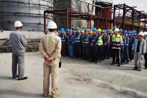 大干九十天·实现新跨越 | 公司EPC总承包唐山开滦沥青产品提质技改项目掀起大干热潮